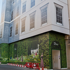 Newton waterproofs Christian Dior's Flagship Store