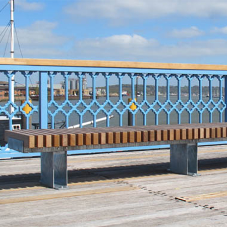 RailRoad benching for Sun Pier
