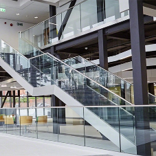 Easy Glass railings for Stourbridge College