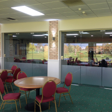 Glass partitions for Gainsborough Golf Club