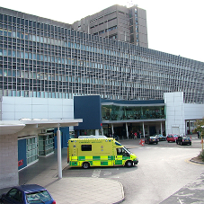 Lead-lined boards at Royal Liverpool University Hospital