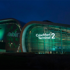 External illuminated letters at Dublin Airport