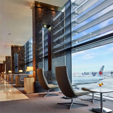 Marble cladding for award winning Air Canada lounge