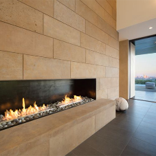 Smart Fire complements home's stunning skyline view