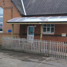 A welcoming entrance for St Mary's Primary school