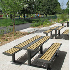 Outdoor seating for Heston Park