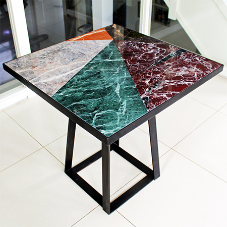 Bespoke terrazzo table auctioned at charity ball