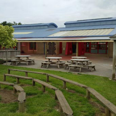 Giant timber canopy installed at Bailey's Court School