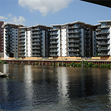 Kone lifts at award winning waterfront project