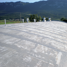 Concrete roof with Aquasmart-PU-2K