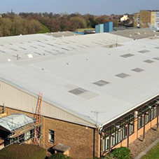 Perfect solution for asbestos roof at Yorkshire Water