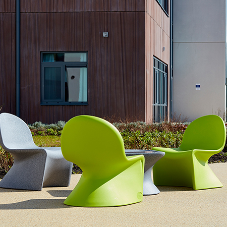 Safe outdoor seating from Pineapple at mental health unit
