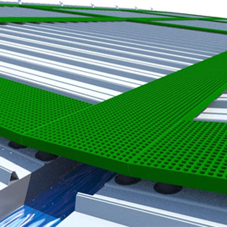 FibreGrid's walkway system ensures safe access