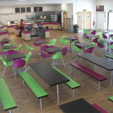 Seatable help create dining area at 6th Form College