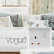 'Vogue™' White Wiring Accessories