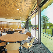 Howzat! Hunter Douglas ceiling for Oundle School