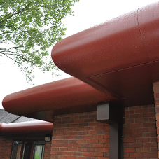 Anti-climb roofline fascia for Mental Health hospital