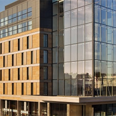 Architectural aluminium glazing systems for Crowne Plaza