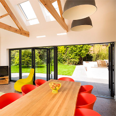 New System 26 Bi-Fold doors from Metal Technology