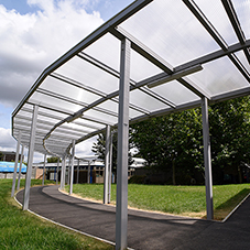 Broxap Canopies at Ashford Park Primary