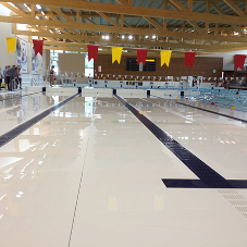 Variopool movable floors & bulkheads in Aquatic Complex