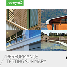 Performance Testing Summary: Accoya