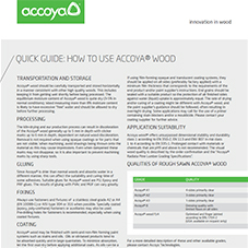 Accoya Quick Guide