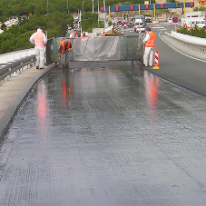 Alchimica waterproofing system for bridge project