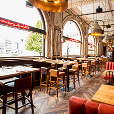 Reclaimed-look herringbone for Birmingham restaurant