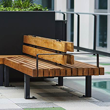 Steel framed benches for Birmingham University