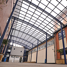 Broxap canopy for Wembley Technology College