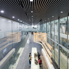 Aluminium ceiling for International Criminal Court
