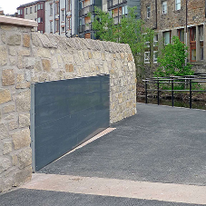 Flood barriers and gates for  Water of Leith