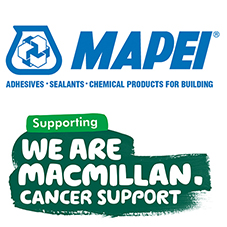 Mapei partnered with Macmillan Cancer Support