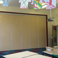 Acoustic moving partition for Staffordshire School