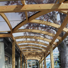 New walkway canopies at Lancasterian School