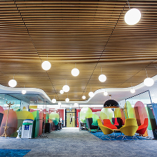 Bespoke ceilings for Enfield Civic Centre refurb