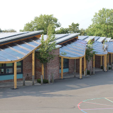 Setter delivers 9 bespoke canopies for primary school