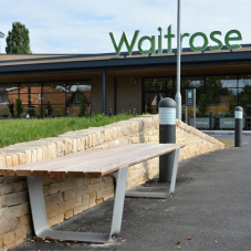 Street furniture for new Waitrose store