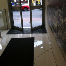 Large format commercial tiles for Albany House