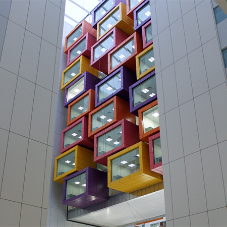 Innovative rainscreen cladding for hospital