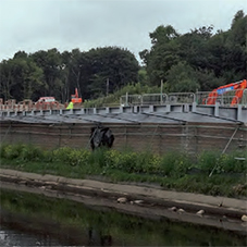 Huesker walls and slopes for Kirkstall Forge