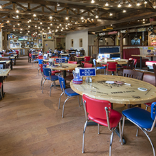 All-American wood floor for Bubba Gump in London