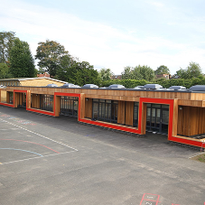 Offsite manufacture speeds up school extension