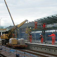 Precast modular platform unit for Crossrail scheme