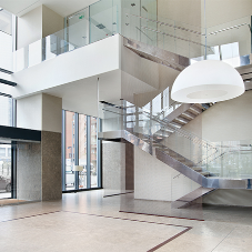 Stainless steel staircases for Bosco Verticale