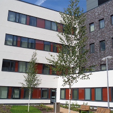 External insulation system for Morriston Hospital