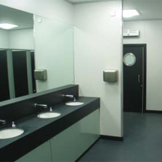 Contemporary washrooms for events venue in Farnborough