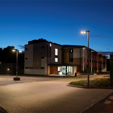 Contemporary car park lighting for Building 329