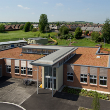 Blackdown extensive green roof for Hetton Lyons Primary